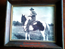 My Dad Riding his horse Poncho at a show by Littlekitty09