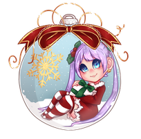 Snow globe ornament by binnybun