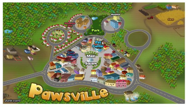 Pawsville Map by Qvi