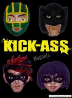 KICK-ASS Magnets by HeyLookASign