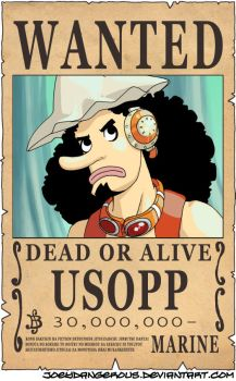 WANTED Dead or Alive - Usopp by JoeOiii