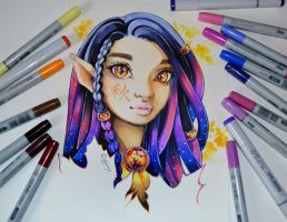 Aki - Goddess of Autumn by Lighane