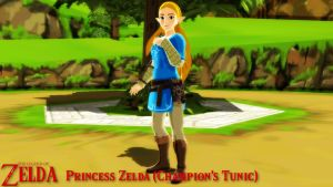 (MMD Model) Princess Zelda - Champion's Tunic DL by SAB64