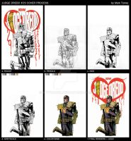 IDW JUDGE DREDD #29 Cover Process by mytymark