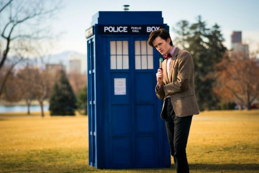 Me and the TARDIS in Denver by Matteleven
