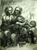 Leonardo da Vinci's Charcoal Rendition by EmberRabbit