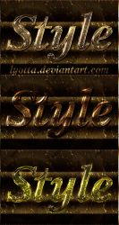 Gold lurex text styles mercury by Lyotta