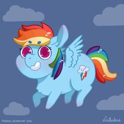 GIF: Chibi Rainbow Dash by ManiaK-PL