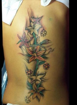 Back Tattoo .Start of coloring by justTattoo