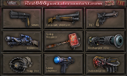 Fallout New Vegas weapons for classic Fallout by Red888guns