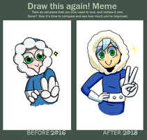 Draw This Again meme (2018) by motherearthbound