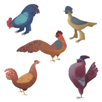 Chickens by hayfootstrawfoot