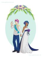 G and P wedding by Z4pineapple
