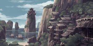 Cliff Village by onlychasing-safety