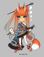 Adopt Auction: Water Fox (closed) by cottonpuffs