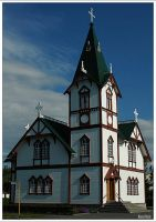 Icelandic church by KlaraDrielle