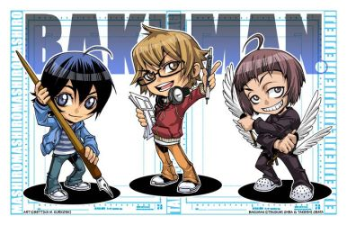 BAKUMAN - chibis 2011 by DreamworldStudio