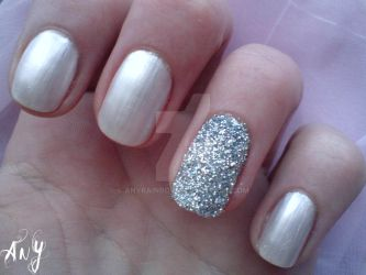 Glitter Nail Design by AnyRainbow
