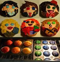 Doctor Who Cupcakes by bones-sickle