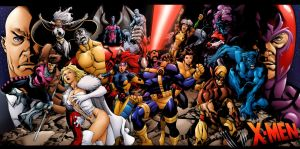 X-Men Team Pin-up by rkw0021