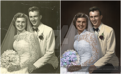 Vintage Wedding - Colourisation by PhotoRevival