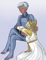 queen and her knight by i0n4