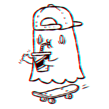 Ghostdude thinks you're pretty cool by Marzipanapple