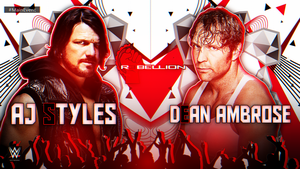 WWE Rebellion Custom Match Card HD by BlackKW