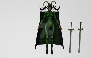 Hela (MFF 3D Model) by Pitermaksimoff