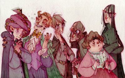 Defence against the dark arts professors by s-u-w-i