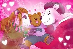 [Commission] Happy Bear Family by raizy