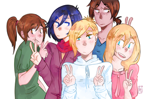 SnK: All the 104th Trainee Ladies by nhiwi