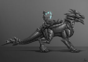 Dragon Armour Side View by AaronGriffinArt