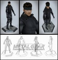 Action Figure Solid Snake by Seraphan85