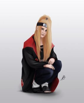 Painting Deidara by good-b
