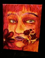 blood flower woman by EAM6