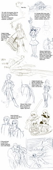 Sailor Hellsing sketchpile 3 by ErinPtah
