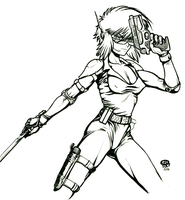 MOTOKO ink by Snigom