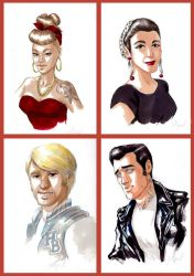 Originaux portraits Rockabilly by lejellycat