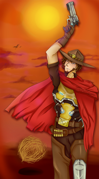Overwatch: McCree | It's (almost) high noon. by Sapphire-Skillz