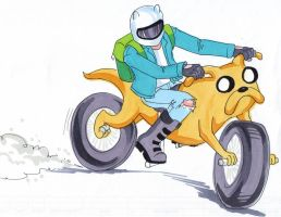 Finn and Jake-cycle by zaionczyk