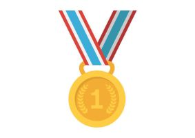Gold Medal Flat Vector by superawesomevectors