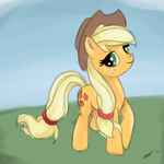 30 min challenge:  Applejack by The-Paper-Pony