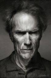 Clint Eastwood Portrait by Ander-Cesteros