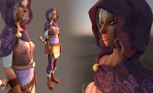 Merchant character Low poly by EvilQueenie