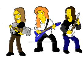 Megadeth (simpsonized) by mauriart