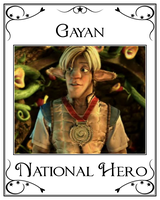 Shirt No.1 - Gayan National Hero by LeelaComstock