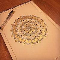 Big Golden Mandala by Val-Elferyia