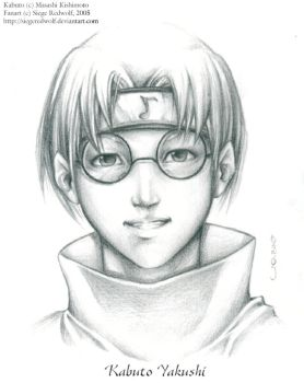 Kabuto Pencil Sketch by Meiphon