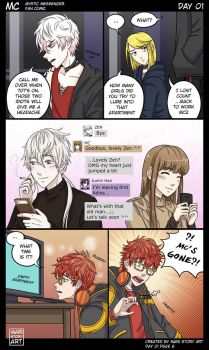 MC Day One Pg 6 Mystic Messenger by MariStoryArt